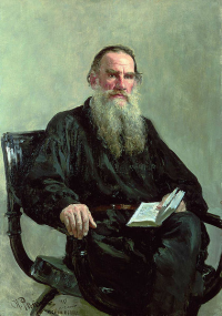 An 1887 portrait of Count Leo Tolstoy